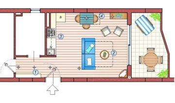 zona giorno appartamento